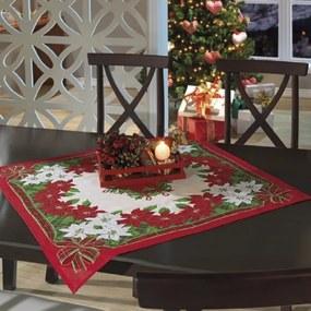 Toalha de Mesa Quadrada 78cm x 78cm Decorativa Natal 74