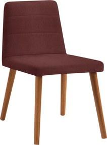 Cadeira Yawan Estofada Linho Bordô / Tauari