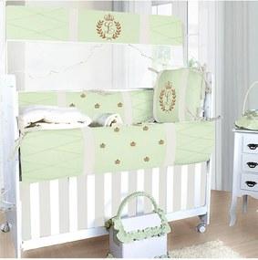 Kit Berço Padroeira Baby Feito A MÁo Luxo Verde