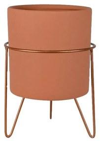 Vaso Decorativo Redondo Pequeno Terra - NT 44794