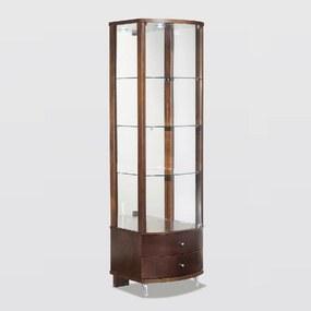 Cristaleira CV 03 Espelho Iluminação Led Madeira Maciça Jequitibá Tremarin Design by Studio Marko20