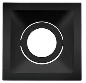 Plafon Embutir Aluminio Preto Square 96cm