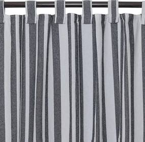 Cortina Black & White Listras de 1,80 x 2,80 m
