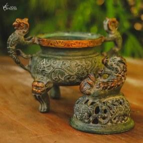 Defumador de Incenso Dragão Bronze