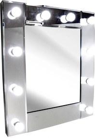 Espelho Quadrado com Moldura Espelhada Estilo Camarim - 75x5x65cm