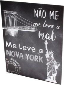 Placa Decorativa Prolab Gift Nova York Preto