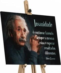 Quadro Insanidade Albert Einstein