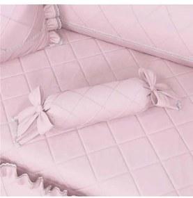 Almofada Rosa Clássico Apoio Bala Nervura 60cm Grã
