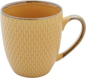 Caneca De Porcelana Drops Amarelo 400ml 27619 Bon Gourmet