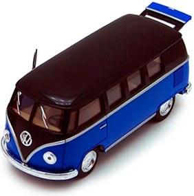 Miniatura 1967 Volkswagen Kombi Escala 1:32 Azul Hartop