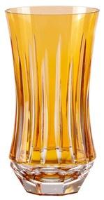Copo de Cristal Lapidado Long Drink 19 - Amarelo  Amarelo Lapidação 66