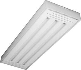 Plafon Led Sobrepor Tubular Triplo Luz Branca Valencia 60cm