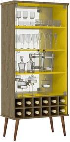 Cristaleira Adega Retrô Demolição/amarelo Seller Patrimar