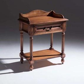 Mesa de Cabeceira Tucson Decorativa Madeira Maciça Design Clássico Avi Móveis