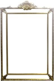 Espelho Clássico Provençal Folheado a Ouro 191 cm x 135 cm