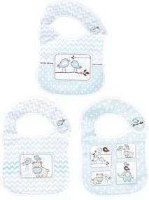 Kit de Babadores - 3 Peças - Amiguinhos Azul - Colibri