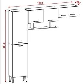 Cozinha Compacta Criz Savana/White - Kit's Paraná