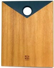 Tábua de Corte Andorinha Azul 25cm x 20cm Wet e Wood
