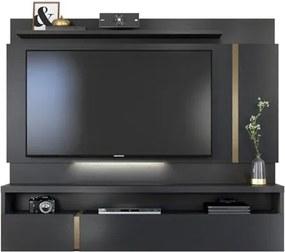 Painel Bancada Suspensa para TV até 60 Pol. Vizio Preto Tex - Caemmun