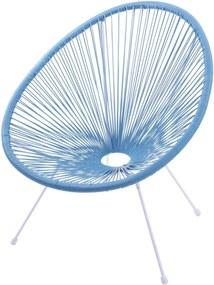Cadeira Acapulco Azul Turquesa Com Cordas de PVC - Base Aço