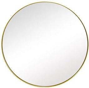 Espelho Redondo com Moldura Folheada a Ouro - 51x51cm