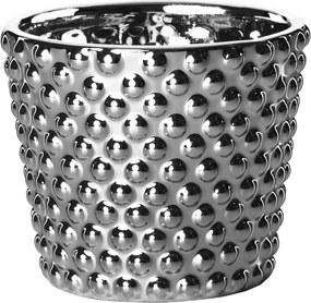 Cachepot Mart Prata Em Cerâmica