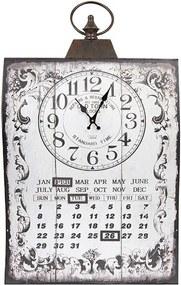 Relógio com Calendário Curvo Branco de Parede
