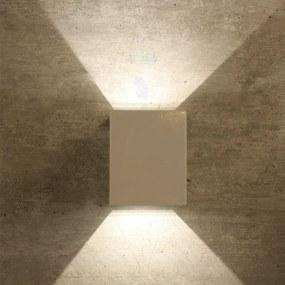 Arandela De Efeito Vidro Branco Led 8w 3000k