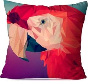 Almofada Love Decor Wervans Avulsa Decorativa Papagaio Geométrico