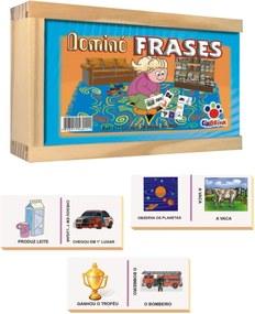 Brinquedo Ciabrink Jogo de Dominó Frases Azul
