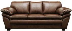 Sofá de Couro Bradley 3 Lugares - Marrom Bicolor - Mempra
