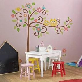 Mesa Infantil e 4 Banquetas Dallas - Branco/Amarelo/Vermelho/Rosa Bebê