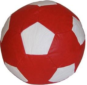 Puff Big Ball Futebol Pop Cipaflex Vermelho e Branco Stay Puff