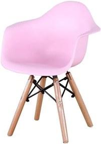 Cadeira INFANTIL Eames Eiffel com Braco PP Rosa - 53319 Sun House