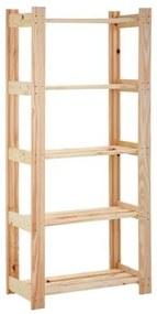 Estante para Livros 90 x 139 cm com 5 Prateleiras Modulare Natural Tramontina