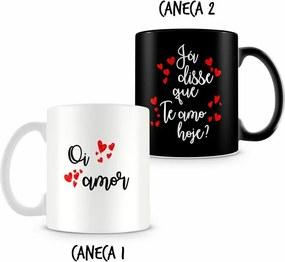 Caneca Dupla Personalizada Oi Amor