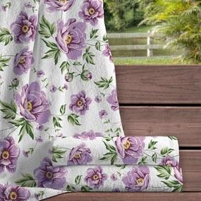 Toalha de Banho Teka Nice Nivia Flores 70cm x 135cm 400g/m²
