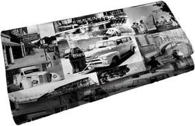 Carteira Coca-Cola Landscape Cars Branco e Preto em PU - Urban