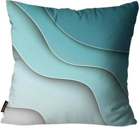 Almofada Premium Cetim Mdecore Abstrata Azul 45x45cm