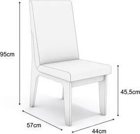 Kit 2 Cadeiras CAD102 para Sala de Jantar Nogal/Flores Marrom - Kappesberg