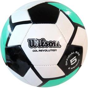 Bola de Futebol Gol Revolution #5 Aqua/Preto - Wilson