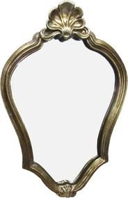 Espelho Clássico Provençal Folheado a Ouro - 44x29cm