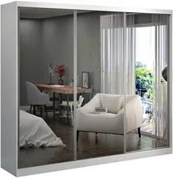Guarda Roupa Casal 3 Portas de Correr com Espelho Winter F04 Branco -