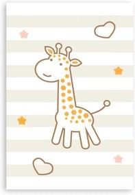 Placa Decorativa MDF Infantil Girafa Quartinhos 20x30cm Amarela
