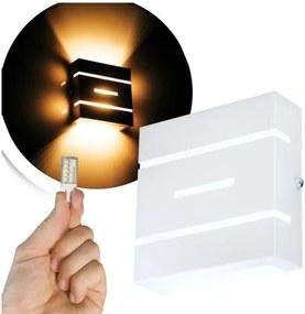 Arandela Frisada Flat Externa c/ LED 5W Incluso   Cor da Luz: 2.700k   Tam: 14x14cm   Cor: Branca   Soq: G9   Mod: Flyn