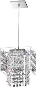 Pendente Acrilico E Cristal 17x17cm