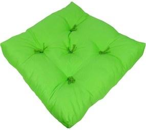 Almofada Futon de Algodão Liso Verde Maça 48x48x10cm