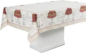 Toalha de Mesa Karsten Antiformiga Lena - Tamanho: Retangular 06 Lugares - 140 X 210 cm - Karsten