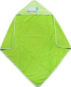 Toalha de Banho Bebê com Capuz Clingo Verde