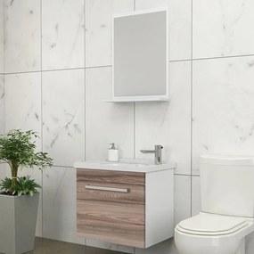 Kit para Banheiro com Espelheira, Toucador e Cuba 45cm Tamarindo - Ágata - Cozimax - Cozimax
